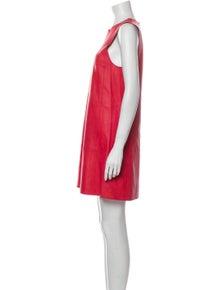 Balenciaga Lamb Leather Mini Dress