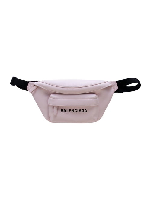 Balenciaga Leather Everyday Belt Bag Pink