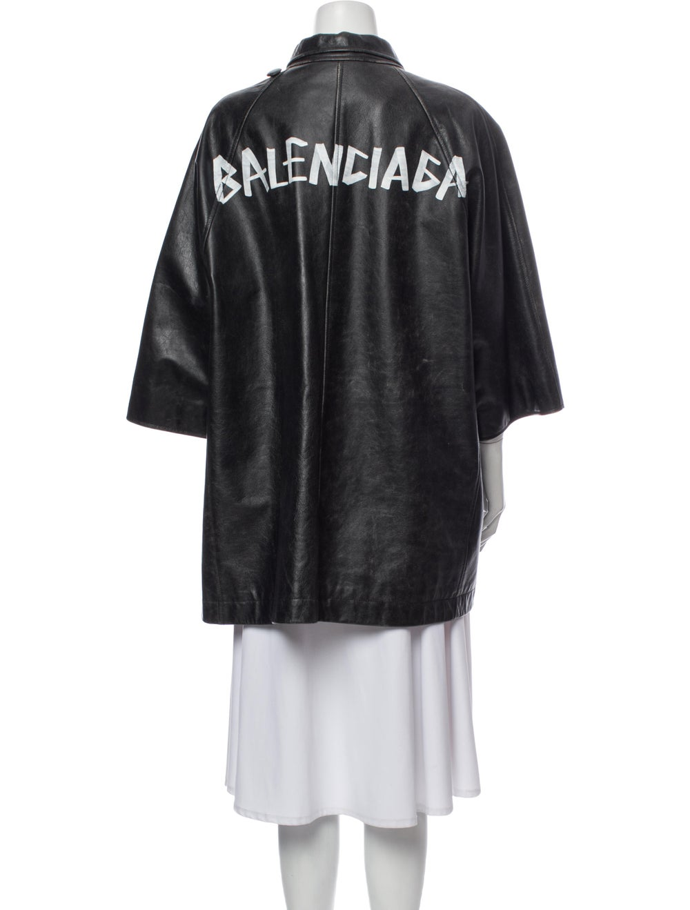 Balenciaga Leather Jacket Black - image 3