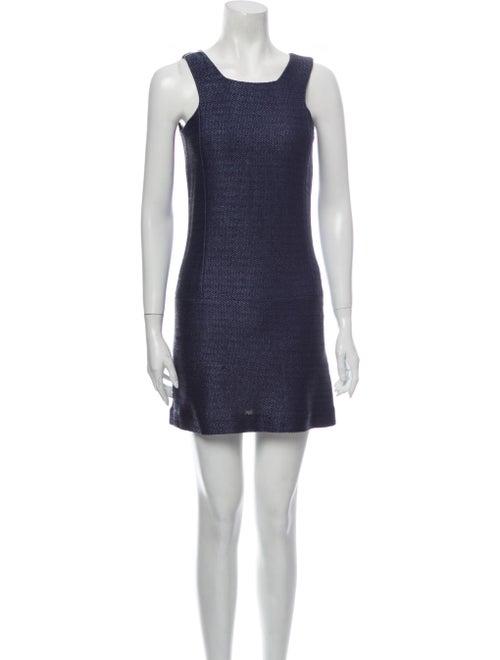 Balenciaga Vintage Mini Dress Blue