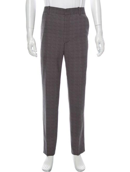 Balenciaga Houndstooth Print Dress Pants Grey