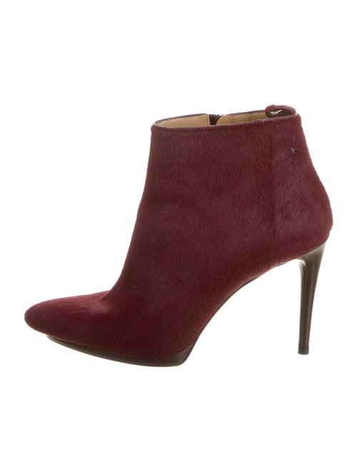 Balenciaga Ponyhair Boots Red