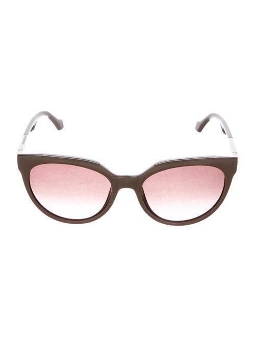 Balenciaga Cat-Eye Tinted Sunglasses silver