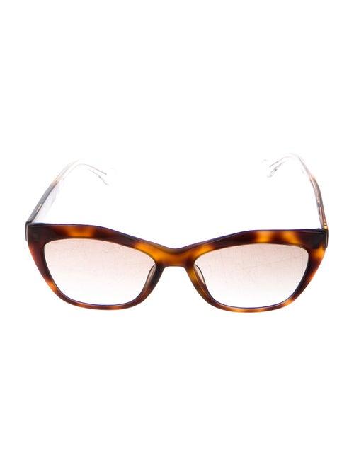 Balenciaga Cat-Eye Gradient Sunglasses Brown