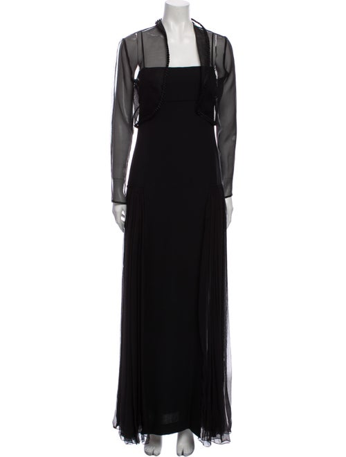 Balenciaga Silk Dress Set Black