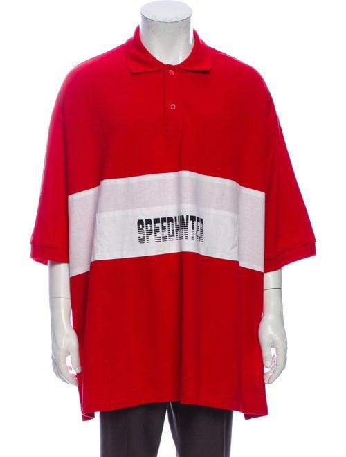 Balenciaga 2018 Speedhunter Oversize Polo Shirt Re