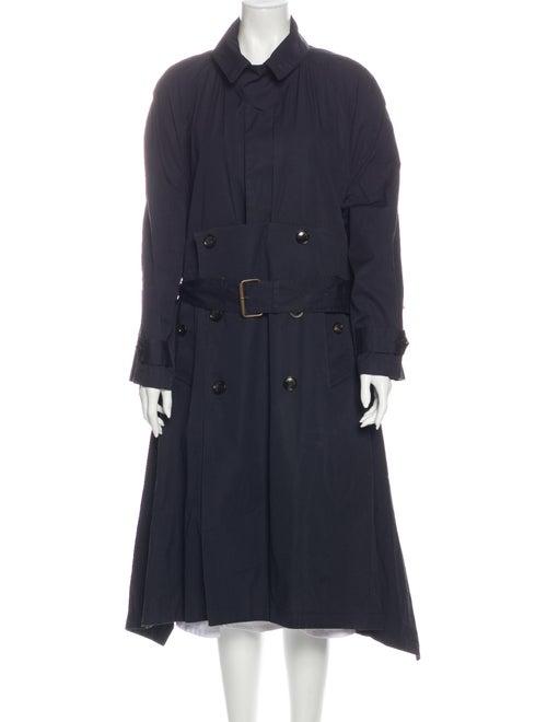 Balenciaga 2016 Trench Coat Blue