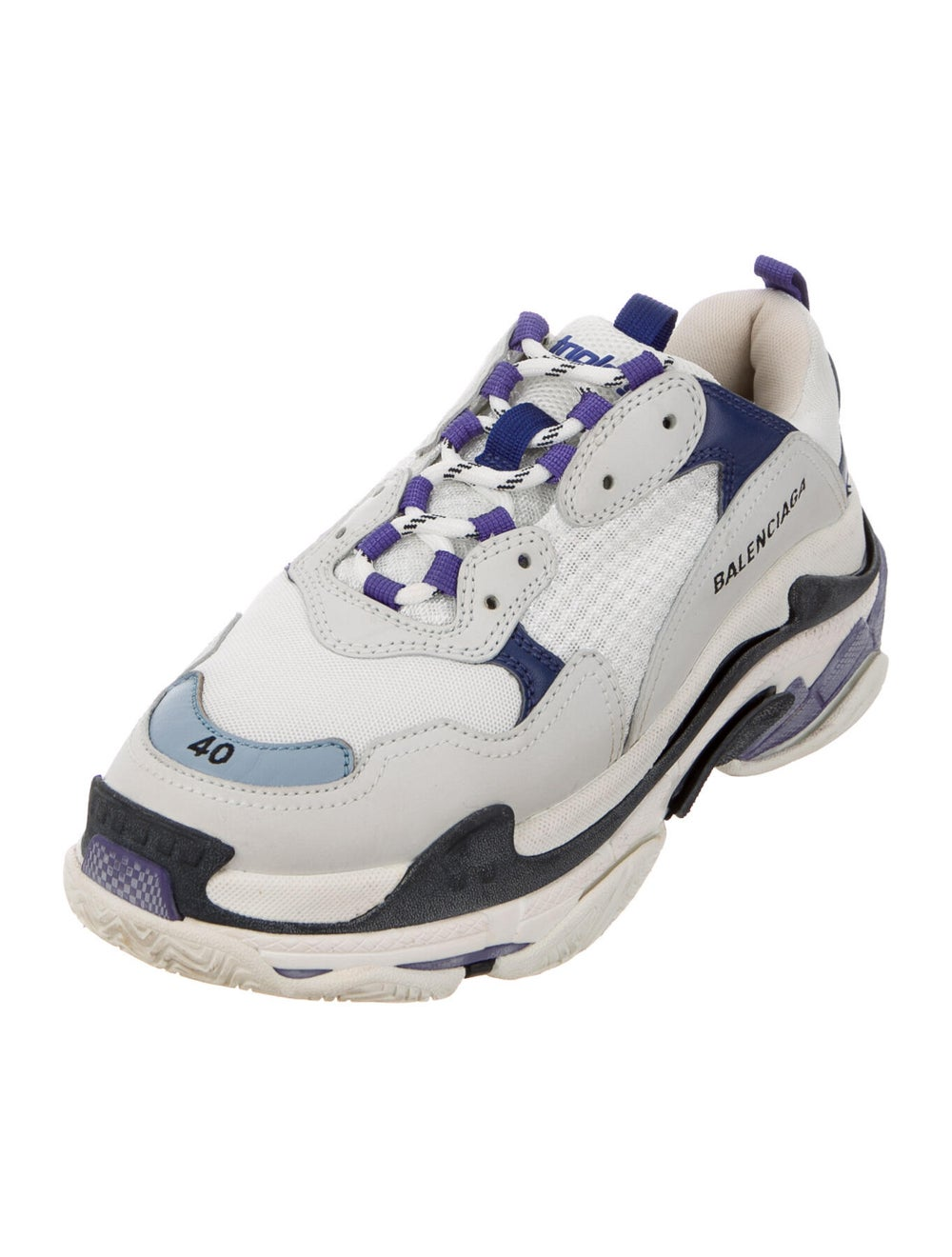 Balenciaga Triple S Chunky Sneakers Blue - image 2