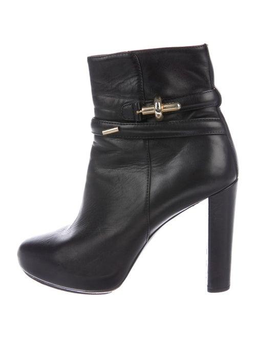 Balenciaga Leather Boots Black