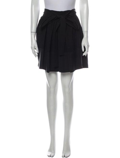 Balenciaga Silk Mini Skirt Black