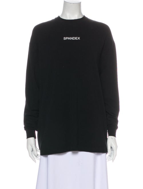 Balenciaga 2016 Graphic Print Sweatshirt Black