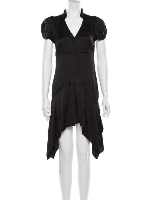 Balenciaga Silk Mini Dress Black