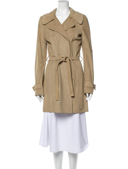 Balenciaga Leather Trench Coat - image 1