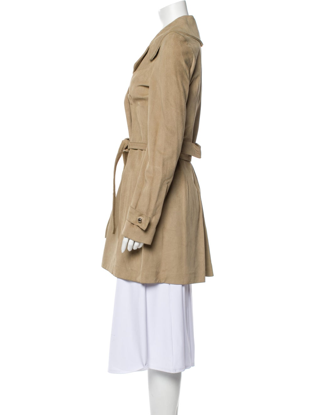 Balenciaga Leather Trench Coat - image 2