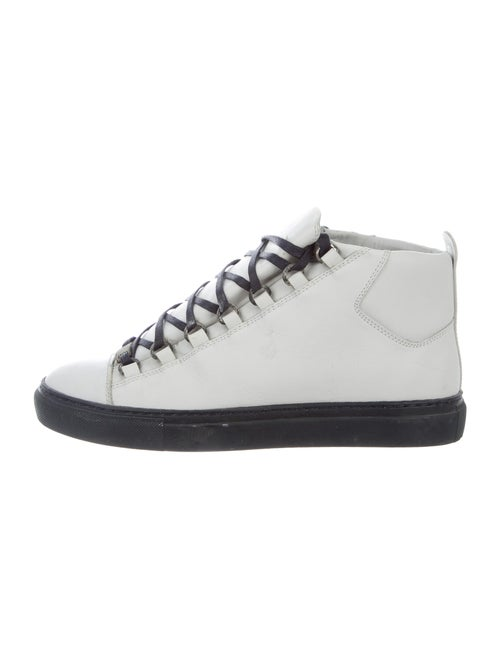 Balenciaga Leather Sneakers Blue