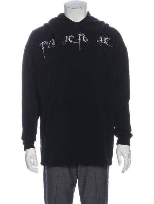 Balenciaga 2017 Mock Neck Sweatshirt Black