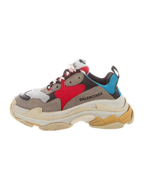 Balenciaga Colorblock Pattern Chunky Sneakers Grey