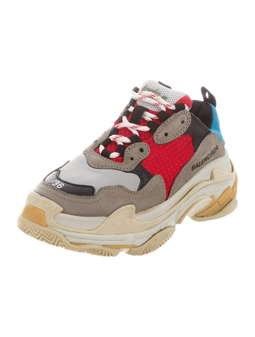 Balenciaga Colorblock Pattern Chunky Sneakers Grey - image 2