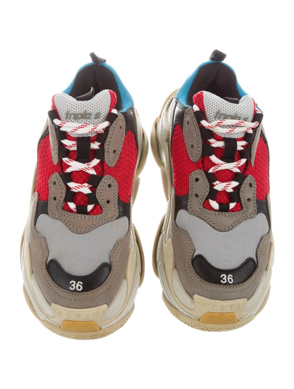Balenciaga Colorblock Pattern Chunky Sneakers Grey - image 3