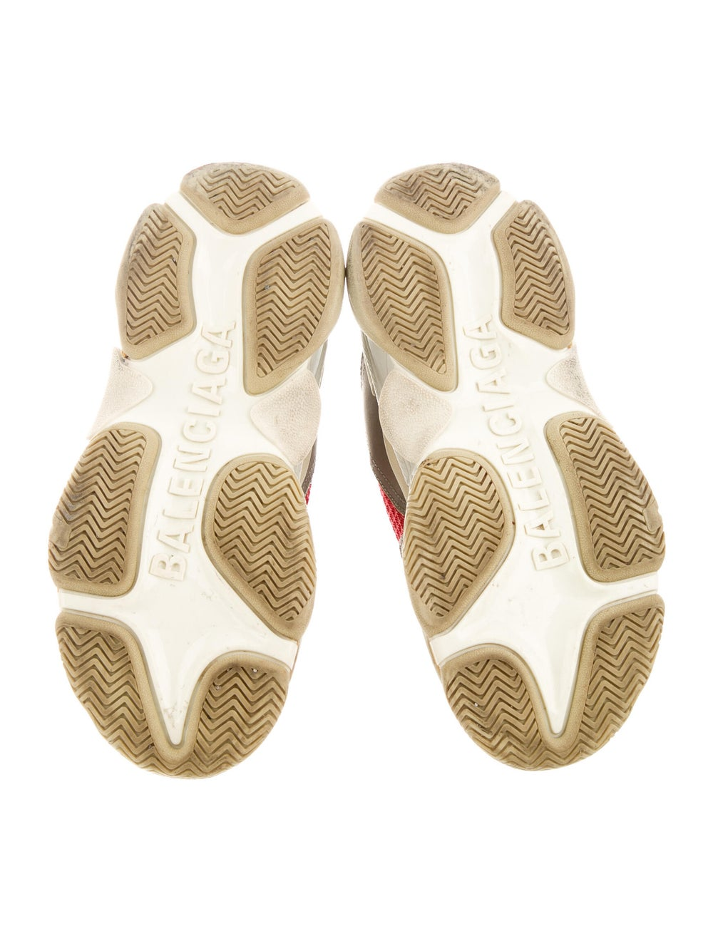 Balenciaga Colorblock Pattern Chunky Sneakers Grey - image 5
