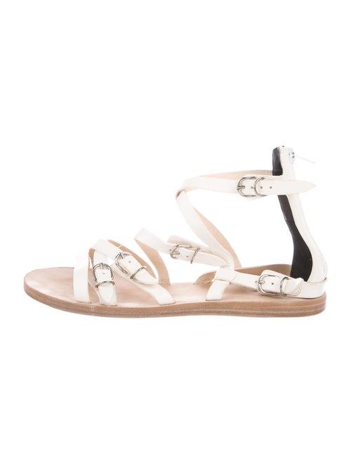 Balenciaga Leather Gladiator Sandals White