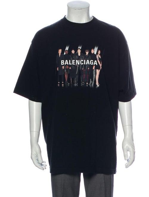 Balenciaga 2019 Graphic Print T-Shirt Black