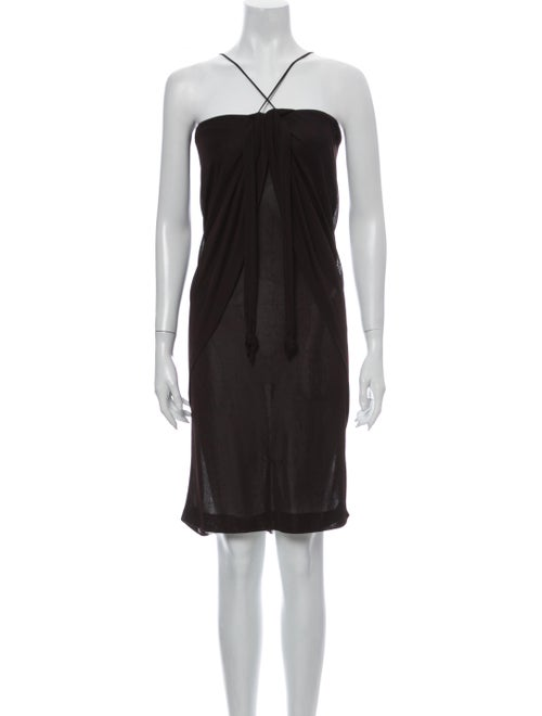 Balenciaga Vintage Knee-Length Dress Black
