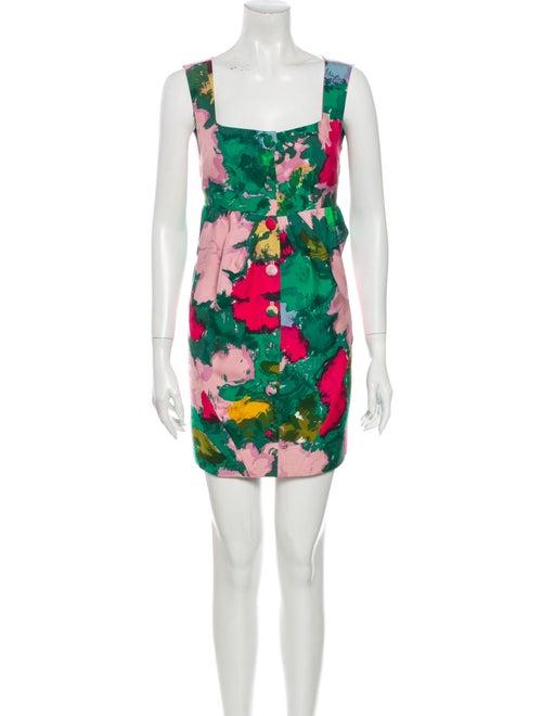 Balenciaga Silk Mini Dress Green