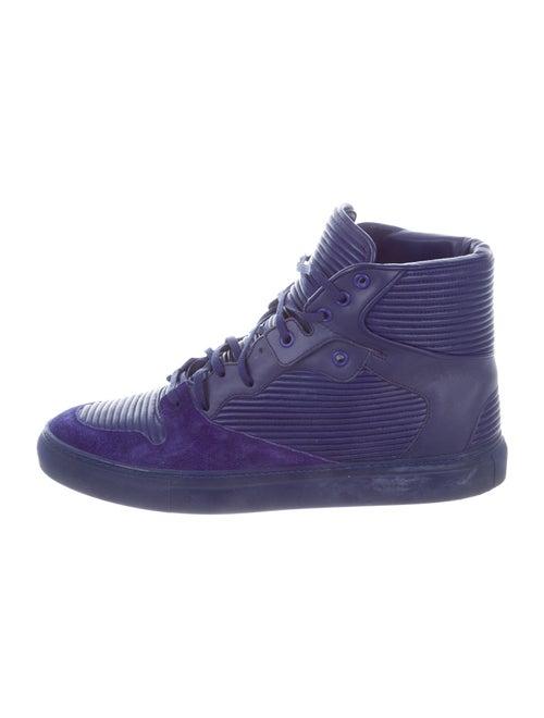 Balenciaga Leather Sneakers Blue