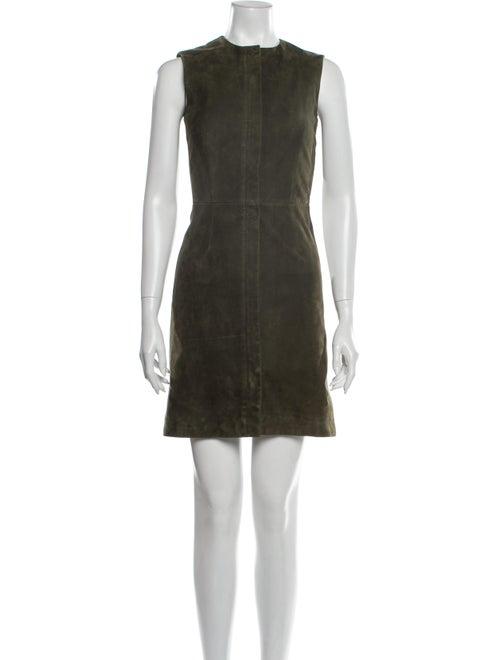 Balenciaga Suede Mini Dress Green