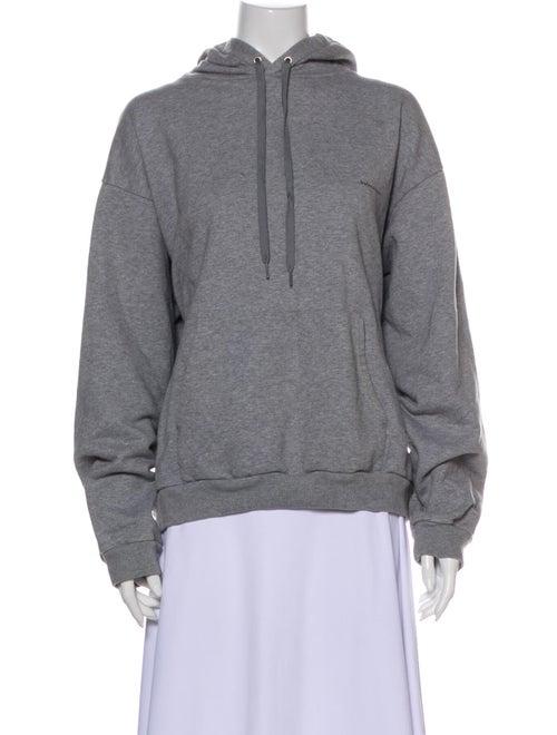 Balenciaga Crew Neck Long Sleeve Sweatshirt Grey