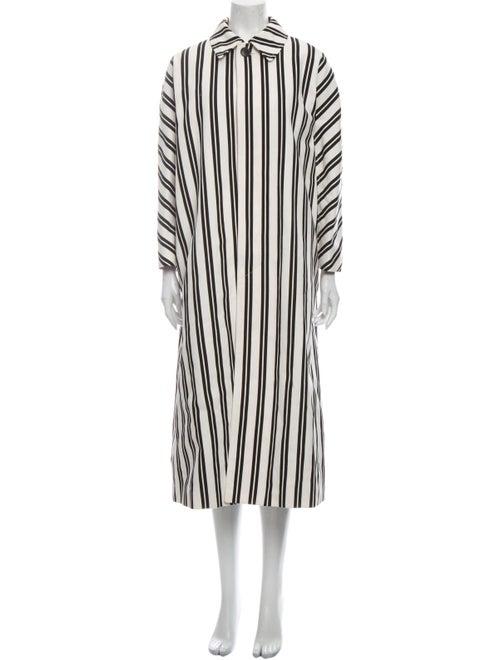 Balenciaga Striped Coat Black