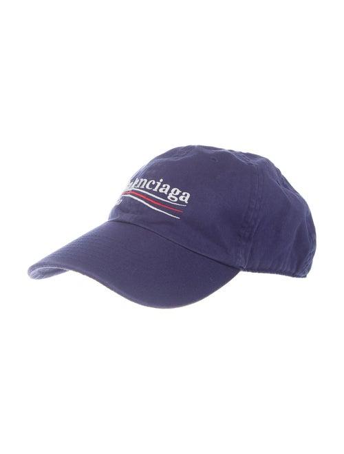 Balenciaga Logo Baseball Cap navy