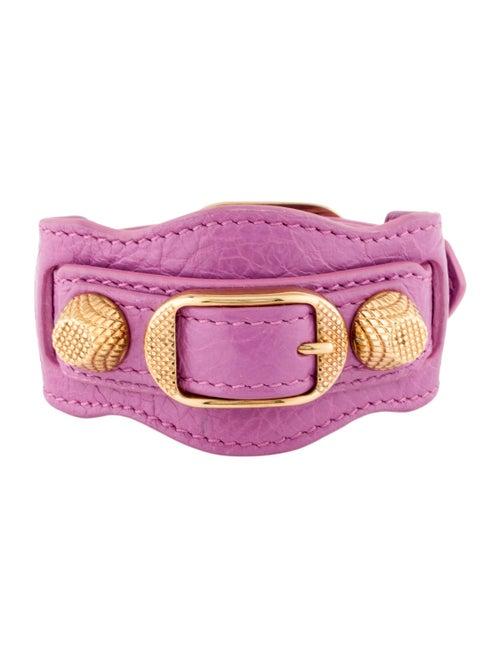Balenciaga Leather Cuff Bracelet Gold