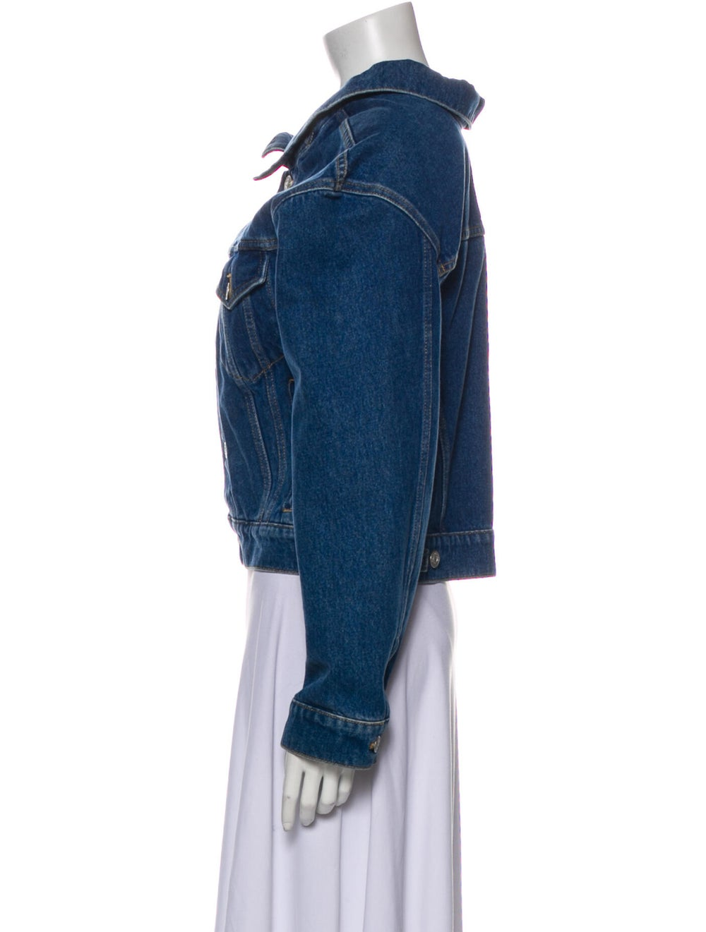 Balenciaga Denim Jacket Denim - image 2