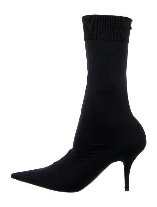 Balenciaga Jersey Sport Sock Boots Black