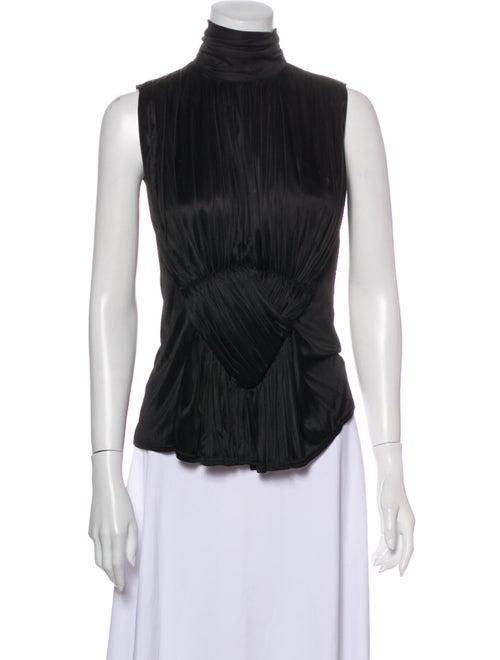 Balenciaga Turtleneck Sleeveless Top Black