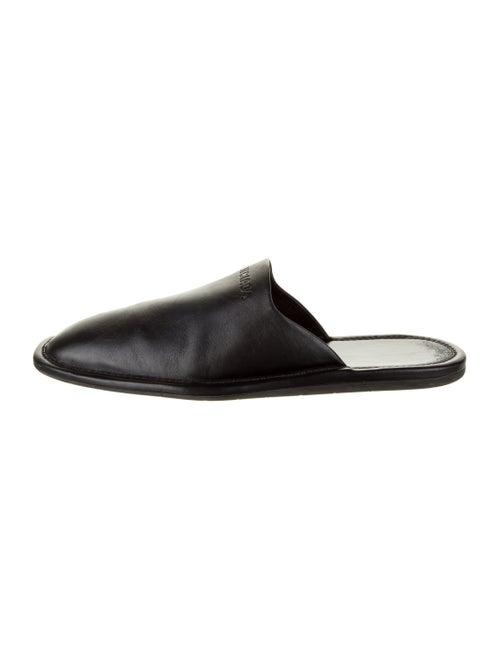 Balenciaga Carrera Mule Leather Slippers Black - image 1