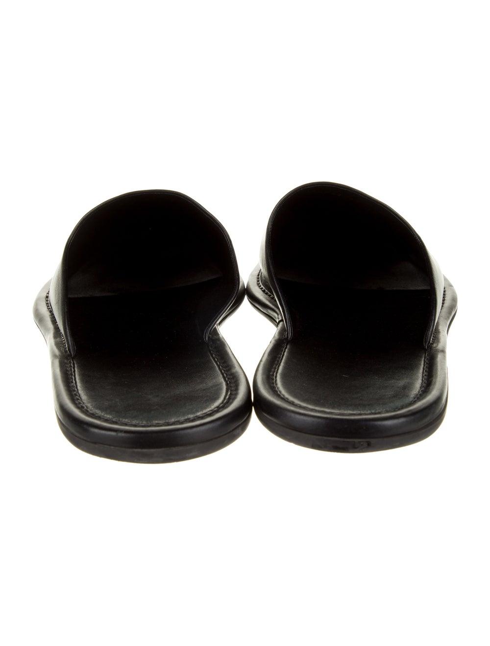 Balenciaga Carrera Mule Leather Slippers Black - image 4