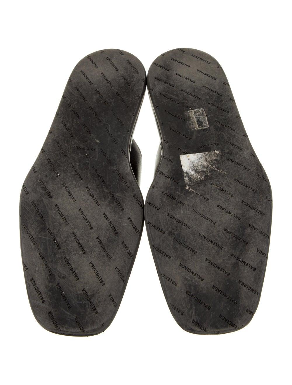 Balenciaga Carrera Mule Leather Slippers Black - image 5
