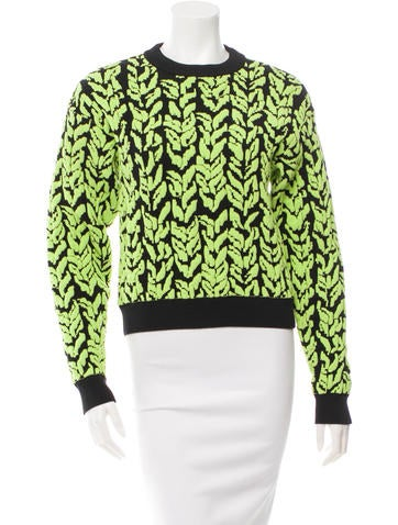 Balenciaga Printed Crew Neck Sweater w/ Tags None