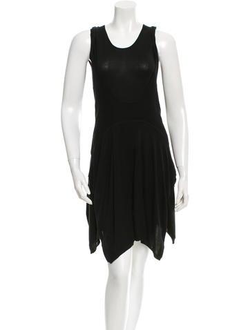 Balenciaga Knit Silk Dress