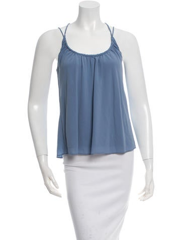 Balenciaga Sleeveless Silk Top None