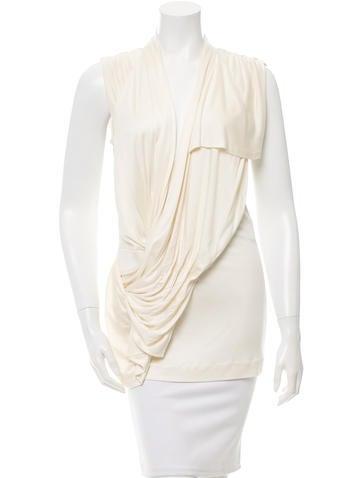 Balenciaga Sleeveless Draped Tunic None