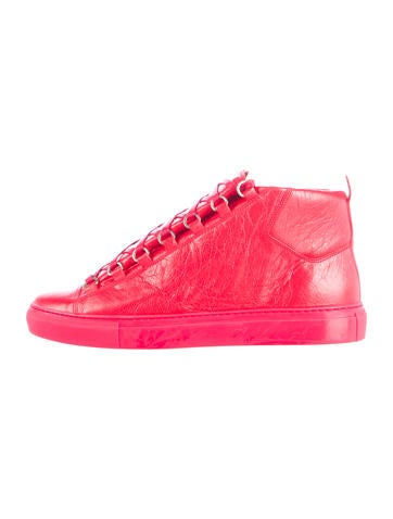 Leather Arean High-Top Sneakers
