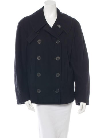 Balenciaga Long Sleeve Wool Coat None