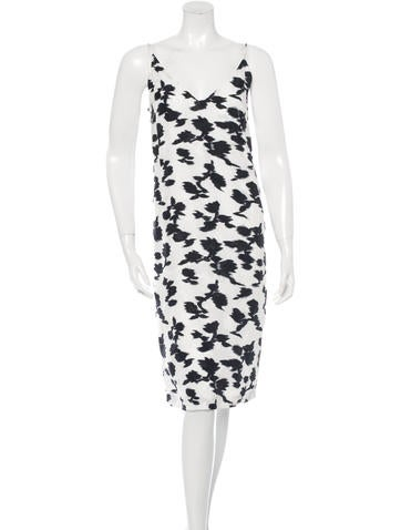 Balenciaga Sleeveless Printed Dress None