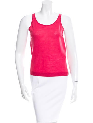 Balenciaga Wool Sleeveless Top None