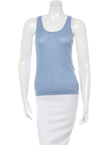 Balenciaga Sleeveless Wool Top None