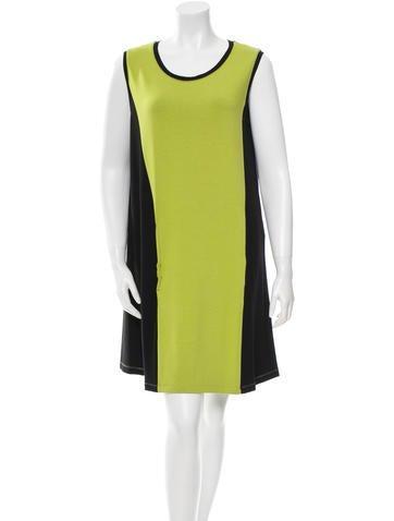 Balenciaga Sleeveless Colorblock Dress None